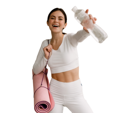Girl going to exercise